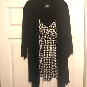 Lane Bryant Black Cami Cardigan Set Sz 22/24